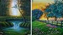Easy Poster Color paintings | Scenery painting for beginners