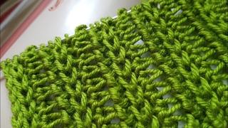 Вяжем очень красивый сетчатый узор 🍓 knitting pattern.