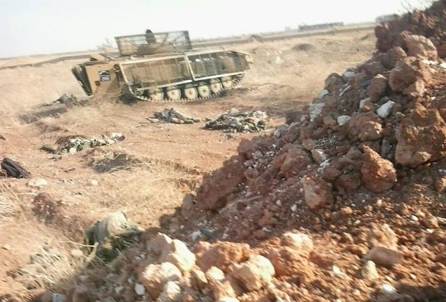 После боя. Фотография с позиций сирийской армии.