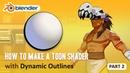 Toon Shader Tutorial - Part 2 - How to Make Dynamic Outlines (Blender 2.8 EEVEE)