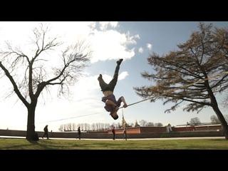 slackline freestyle slow motion Kolyambing