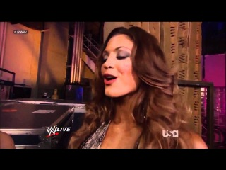 Eve Torres, The Bella Twins & John Cena Backstage - WWE Raw 20 02 2012