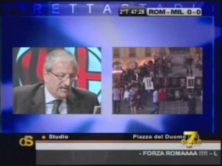 Комментатор и ярый болельщик Милана Тициано Круделли. Короче так не расскажешь,нужно смотреть!!!!!