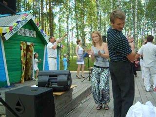 Павел Павлов и Татьяна Григорюк на празднике в Кочкурге