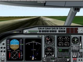посадка в Домодедово Аirbus А320 на симуляторе