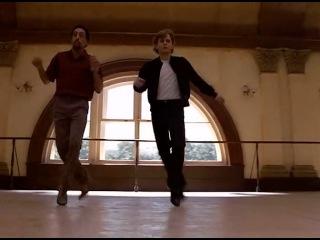 """Михаил Барышников и Грегори Хайнс (танец из к/ф""""Белые ночи"""",1985)."""
