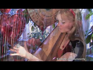Американские сестры-близнецы игрют на арфах!!! The BEATLES - All You Need Is Love (Harp Twins) Camille and Kennerly