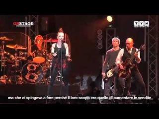 Garbage live in Italia Vigevano intervista a Shirley Manson