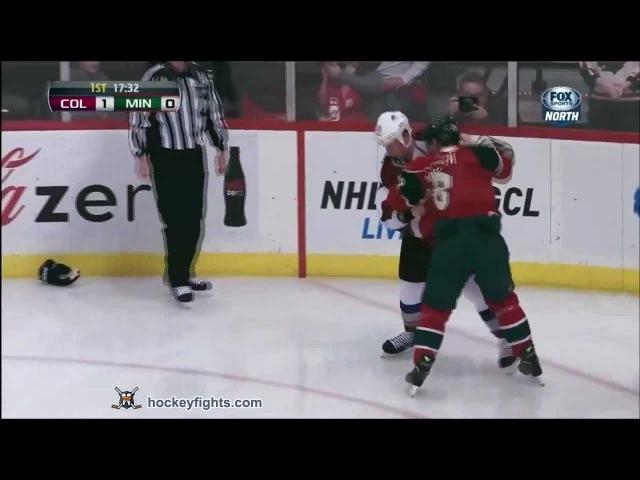 Драка НХЛ Зенон Конопка Коди Маклеод Миннесота Уайлд Колорадо Эвеланш