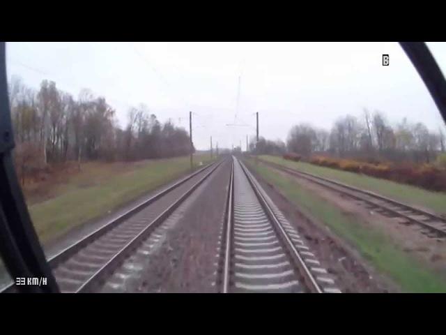 Минск Пассажирский Орша Центральная из кабины машиниста ЭПр HD