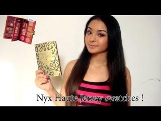 Свотчи палетки от  NYX ! / NYX Haute Jersey swatches!