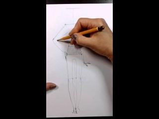 FASHION DESIGN ONLINE: 1-1 Построение базовой фигуры. Кукла человека в движении