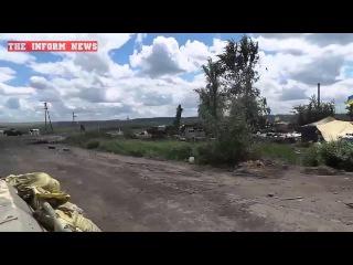 Славянск 29 июня   Передвижение украинских силовиков под открытым огнем   Эксклюзив   29 06 2014