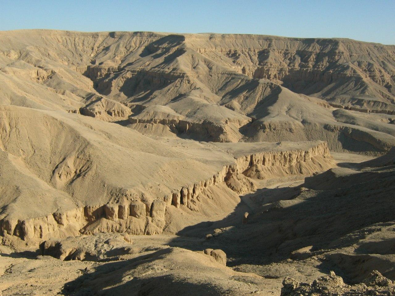 пустынная картина в Египте и в арабских стран