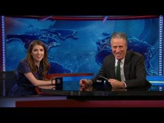 Anna Kendrick On The Daily Show - Jon Stewart Interview - December 17, 2014