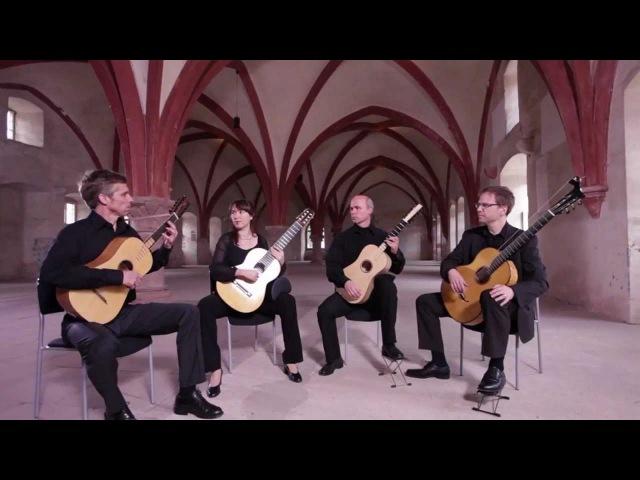 Barrios Guitar Quartet plays Santiago de Murcia - Fandango