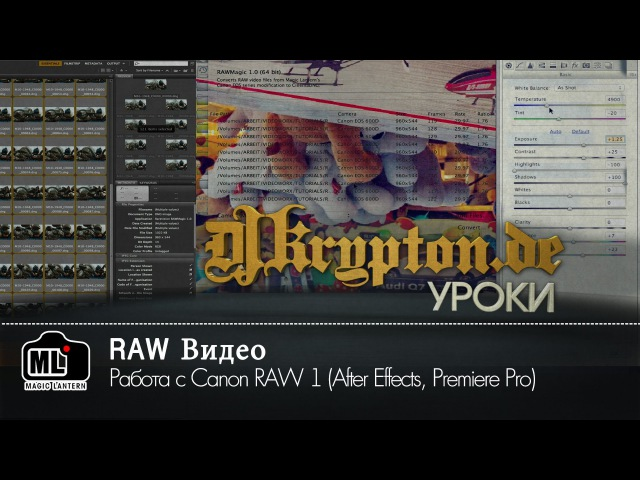 УРОК Работа с Сanon RAW 1 After Effects Premiere Pro