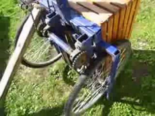 Самодельный трехколесный грузовой велосипед работа привода заднего колеса