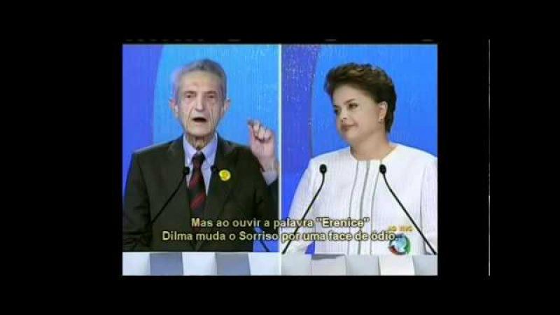 Plínio faz Dilma deixar de sorrir com apenas uma Frase