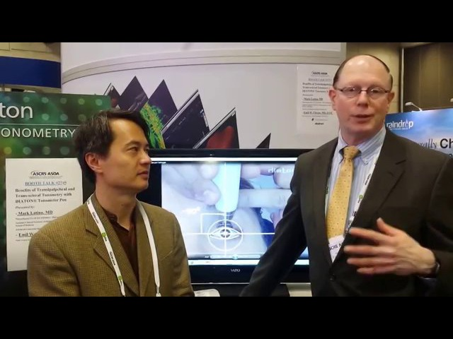 Review of Benefits Advantages of DIATON tonometer by Drs Mark Latina Emil Chynn ASCRS
