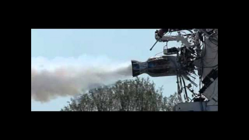 LOX Methane rocket engine hard start slow motion