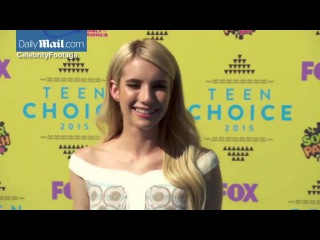 Emma Roberts wows in rainbow inspired dress at Teen Choice