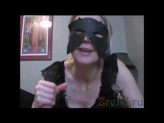 Cumming for mature mommy wife. milf in stockings and mask blowjob and handjob