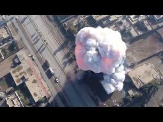 Беспилотник ИГИЛ снял АТАКИ смертников Моссул Ирак Сирия Drone ISIS Footage Of Attacks In Mosul