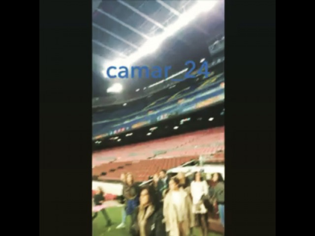 """Camar World🌸💁 on Instagram Last night Carol in camp nou 😍❤️💙you can see her at the end of the video @candantas @carlosrique camar"""""""