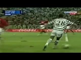 """Юный Роналду в игре против """"Манчестер Юнайтед""""."""