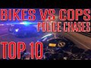 MOTORCYCLE VS COPS TOP 10 Street Bike POLICE CHASE Compilation 2015 Motorcycles Run From Cop Getaway
