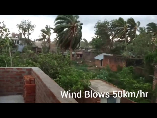Heavy Cyclone in Odisa and wind blows 50 km Hr REAL video
