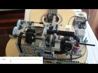 Конструктор Lego играет на гитаре Little Talks Guitar Cover by Lego Mindstorms EV3