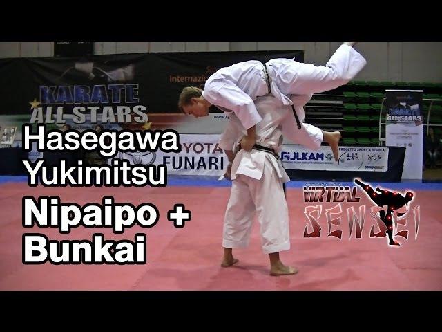 Hasegawa Yukimitsu teaching kata Nipaipo bunkai - Karate All Stars 2013