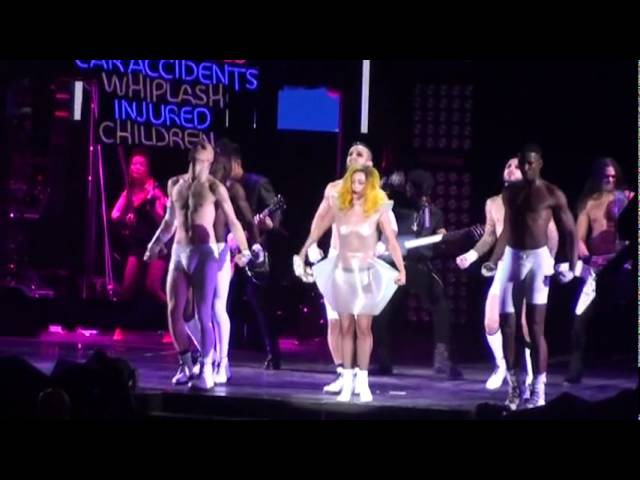 Lady Gaga Boys Boys Boys live @ The Monster Ball Madison Square Garden NYC 2 21 11
