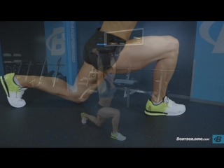 How To Do A Walking Lunge with Weight Overhead   Exercise Guide