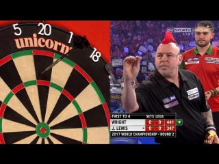 Peter Wright vs Jamie Lewis (PDC World Darts Championship 2017 / Round 2)