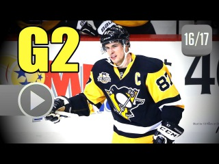 Columbus Blue Jackets vs Pittsburgh Penguins. 2017 NHL Playoffs. Round 1. Game 2.  (HD)