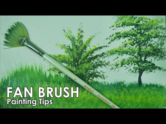 Acrylic Painting Lesson How to Paint Grasses and Other Plants Using Fan Brush by JM Lisondra