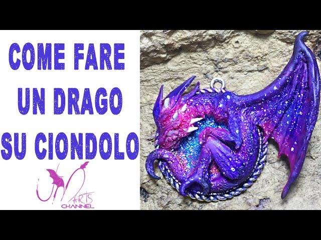 Come fare un drago in Fimo su Cammeo Tutorial DIY Ciondolo
