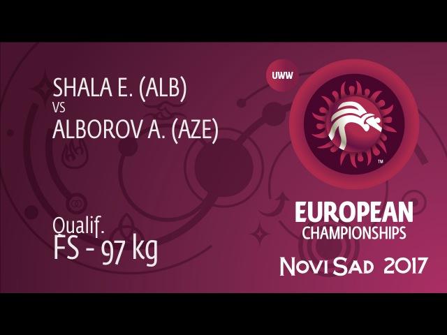 Qual. FS - 97 kg: A. ALBOROV (AZE) df. E. SHALA (ALB) by TF, 10-0