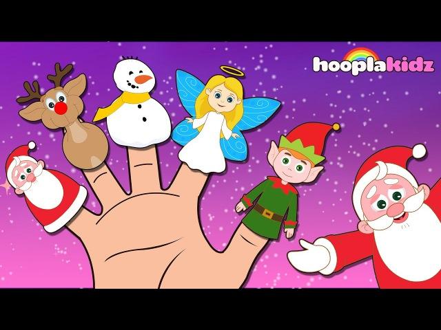 Christmas Finger Family HooplaKidz Nursery Rhymes Kids Songs