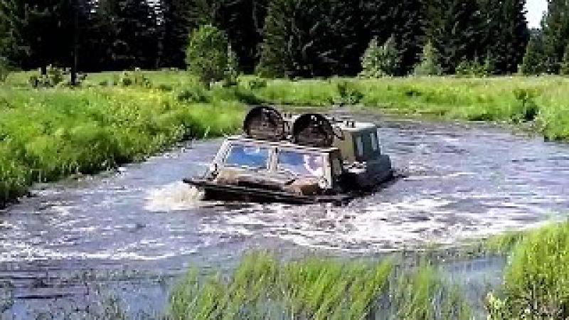 ГТ-СМ (ГАЗ-71) Газушка в воде и грязи! Этот вездеход, всегда и везде найдет себе дор ...