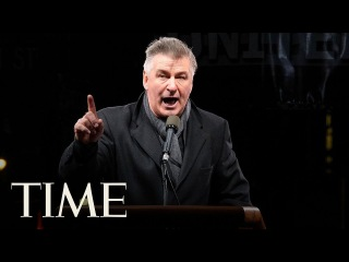 Alec Baldwin Brings Donald Trump Impression To NYC Protest   TIME