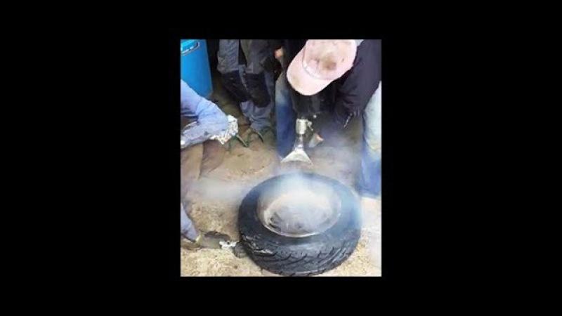 Повітряна пушка Петровича 20 атмосфер Як забортувати резину на широкий диск