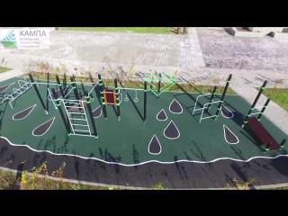 ООО КАМПА Сургут строительство детских и спортивных площадок с покрытием из резиновой крошки