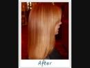 Эффект кератинового выпремления волос