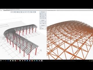 Металлоконструкции в Renga - структурное покрытие