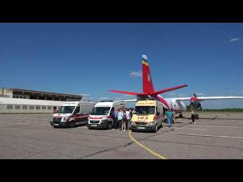 Авіація ДСНС доправила трьох постраждалих у ДТП дітей з Республіки Білорусь додому