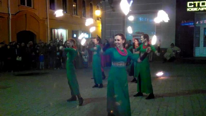 Ужгород, фаер шоу, 23.04.2017. Театр вогню Fire Life. Фаєр/вогняне шоу. Ужгород